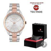 Relógio Technos Prata Rose Feminino Elegance 2036mkc