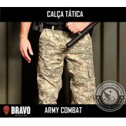 Calça Tática Militar Camuflada Army Combat Bravo