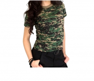 Camiseta Baby Look Feminina Camuflada Marpat - BRAVO