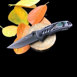 Canivete Buck X57 Camuflado Digital Verde