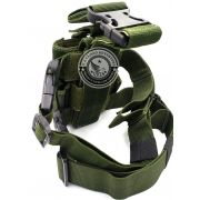 Coldre De Perna Robocop Sistema Molle Universal Verde