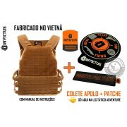 Colete Tático Militar Plate Carrier APOLO Invictus COYOTE