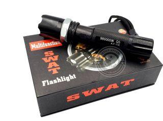 Lanterna Tática Led Cree Q5 SWAT RECARREGÁVEL 980000w Real