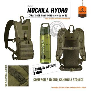 Mochila de Hidratação Camelbak Hydro Invictus  + Garrafa Atomic Verde Oliva