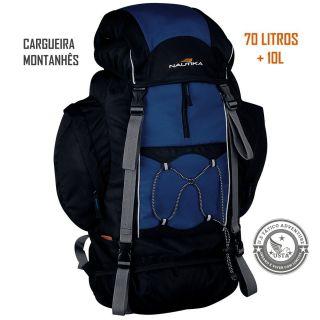 Mochila Ntk Cargueira Trekking Montanhês 70 L Original Azul