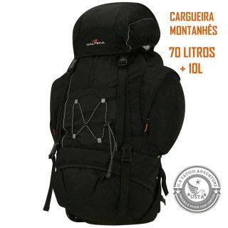 Mochila Ntk Cargueira Trekking Montanhês 70l Original Preta