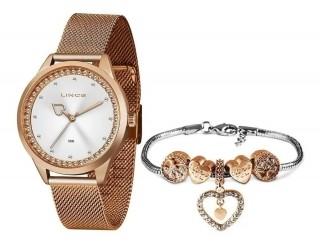 Relógio Feminino Lince Orient Bright Rose - LRR4666L KY20 + Pulseira Berloque