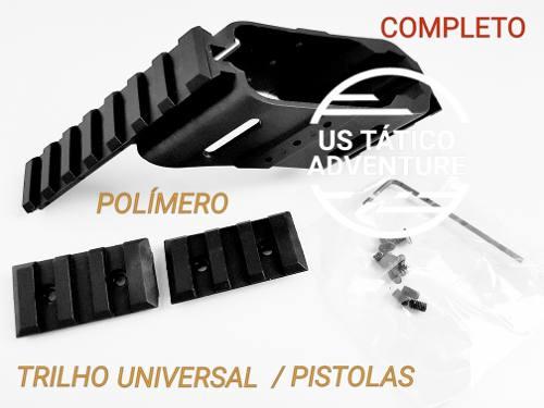 Trilho Mount Suporte Universal Polímero Para Pistolas Glock 1911 M9A1