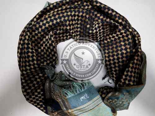 Shemagh Hijab Muçulmano Black Gold
