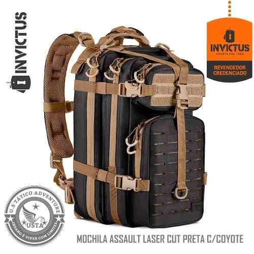 Mochila Assault Laser Cut Lc Preta Invictus Original