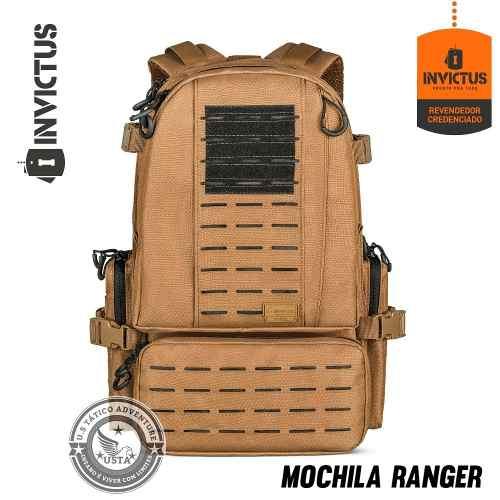 Mochila Ranger Invictus Coyote C/preto