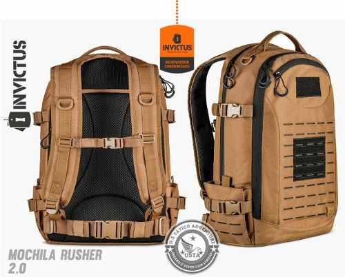 Mochila Rusher Coyote C/ Preto 2.0 Invictus