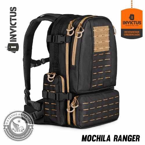 Mochila Ranger Invictus Preta C/ Coyote Lançamento