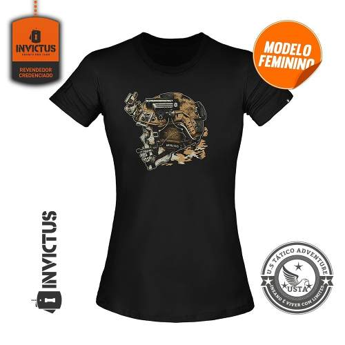 Camiseta Tshirt Feminina Concept Invictus Blackjack