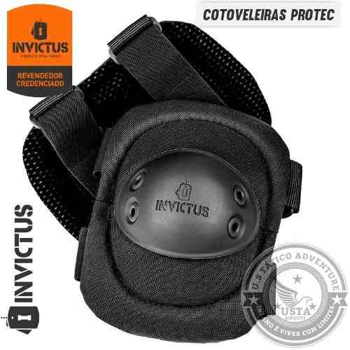 Cotoveleira Tática Militar PROTEC INVICTUS - Polímero Inquebrável