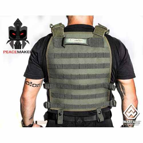 Colete Tático Militar Fenrir Suspensorio Peacemaker Cordura 500 VERDE