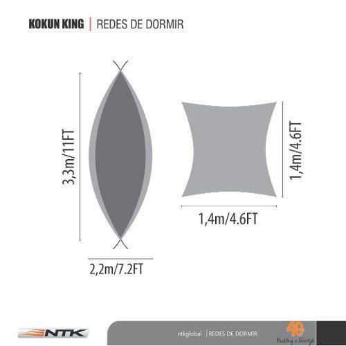 Rede Descanso Kokun King Size Verde/cinza Nautika - Camping