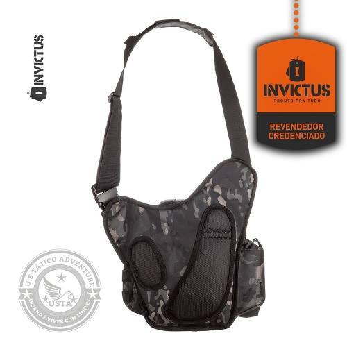 Bolsa Bornal Urban C/ Coldre Invictus Mochila Multicam Black