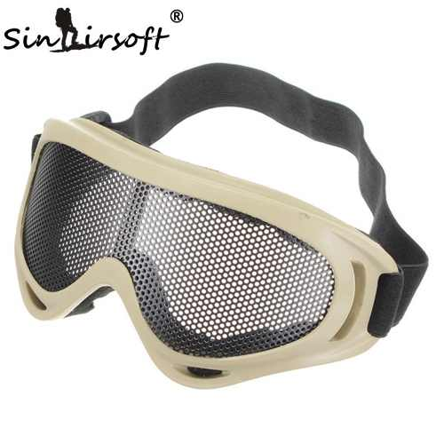 Óculos De Tela Respirável Proteção Militar Airsoft Tan