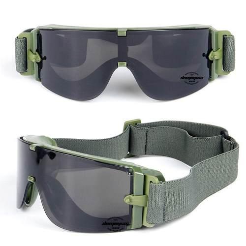 Óculos Balístico Proteção X800 3 Lentes + Estojo - Verde