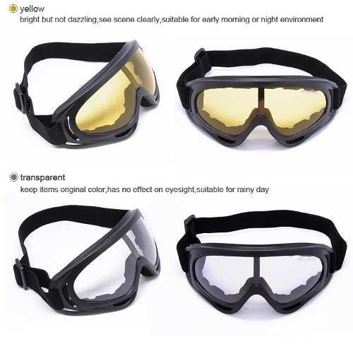 Óculos Airsoft E Paintball Balístico Tático Lente TRANSPARENTE