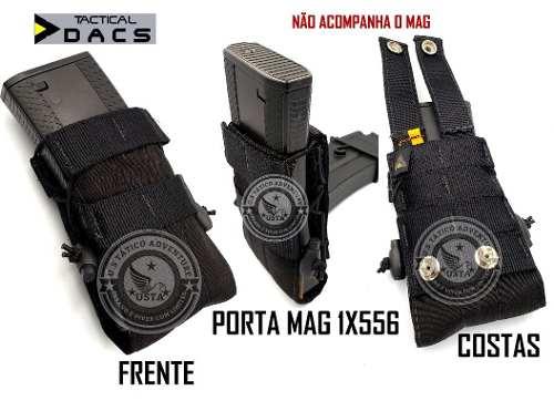 Bolso Porta Carregador Mag M4/m16 Modular Dacs 1x556 PRETO