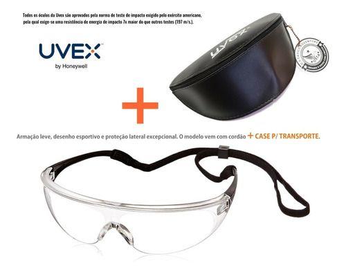 Óculos Uvex Proteção Milennia Antiembaçante com Case
