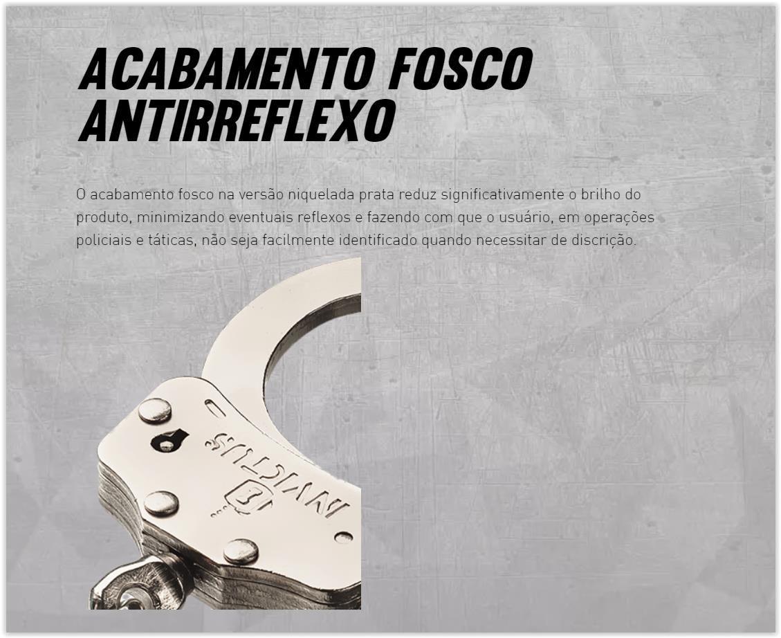 Algema Corrente Profissional Aço + Porta Algemas Locked Coyote Invictus