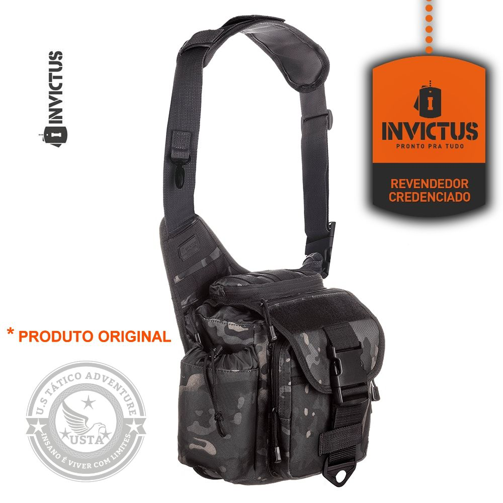 Bolsa Bornal Urban C/ Coldre Invictus Mochila Multicam Black