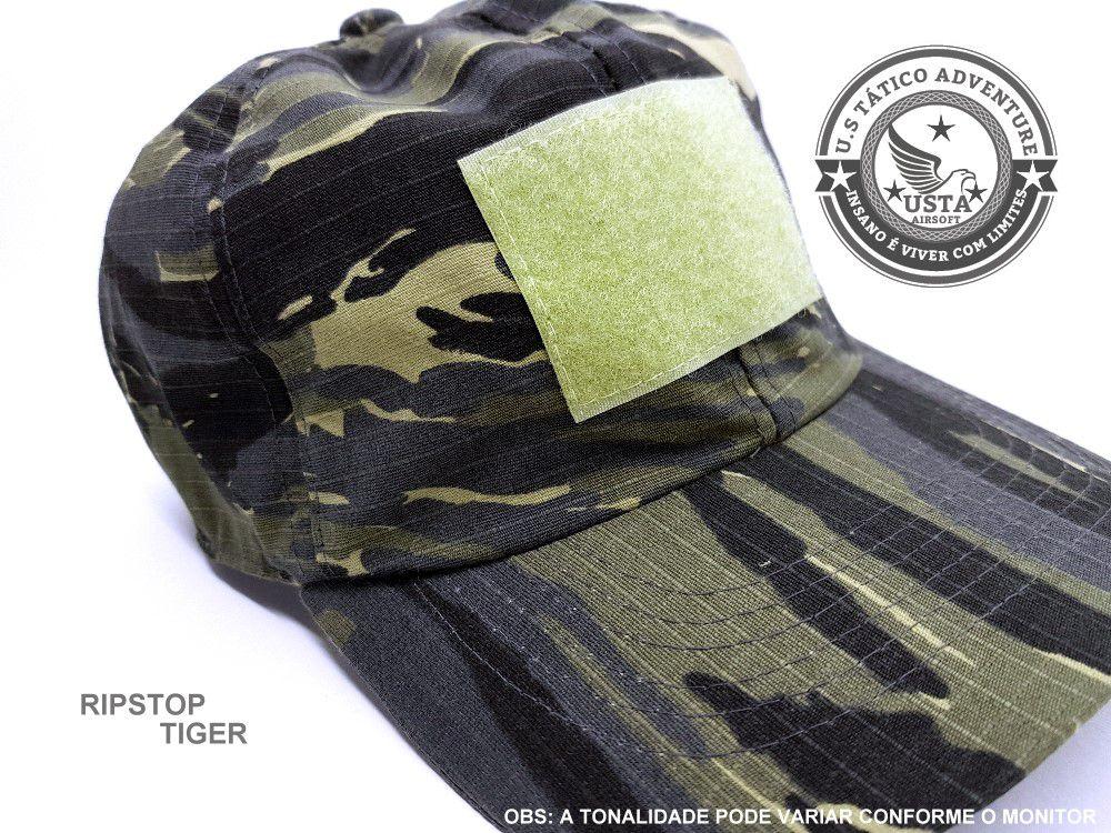 Boné Tático Camuflado Tiger Jungle Com Ajuste