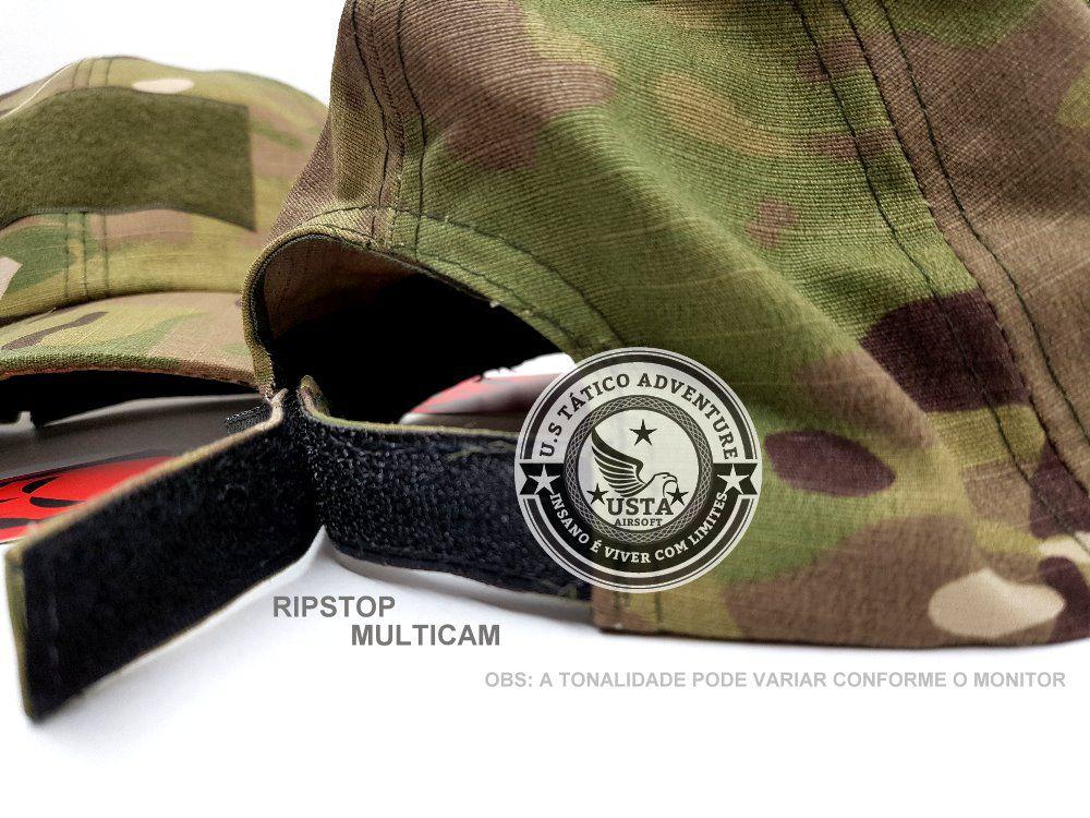 BONÉ TÁTICO MILITAR RIPSTOP MULTICAM