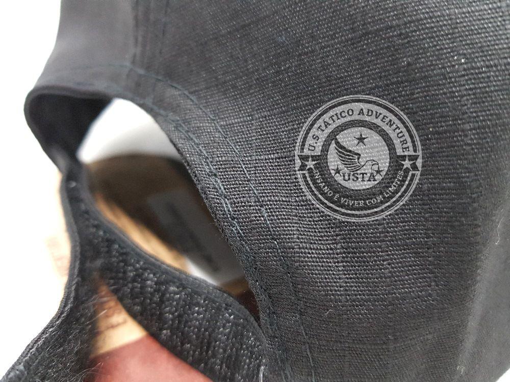 Boné Tático Ripstop Ajustável Com Velcro Para Patch PRETO