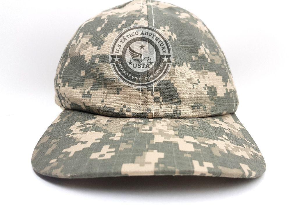 Boné Tático Ripstop Camuflado Army Combat - Ajuste No Velcro