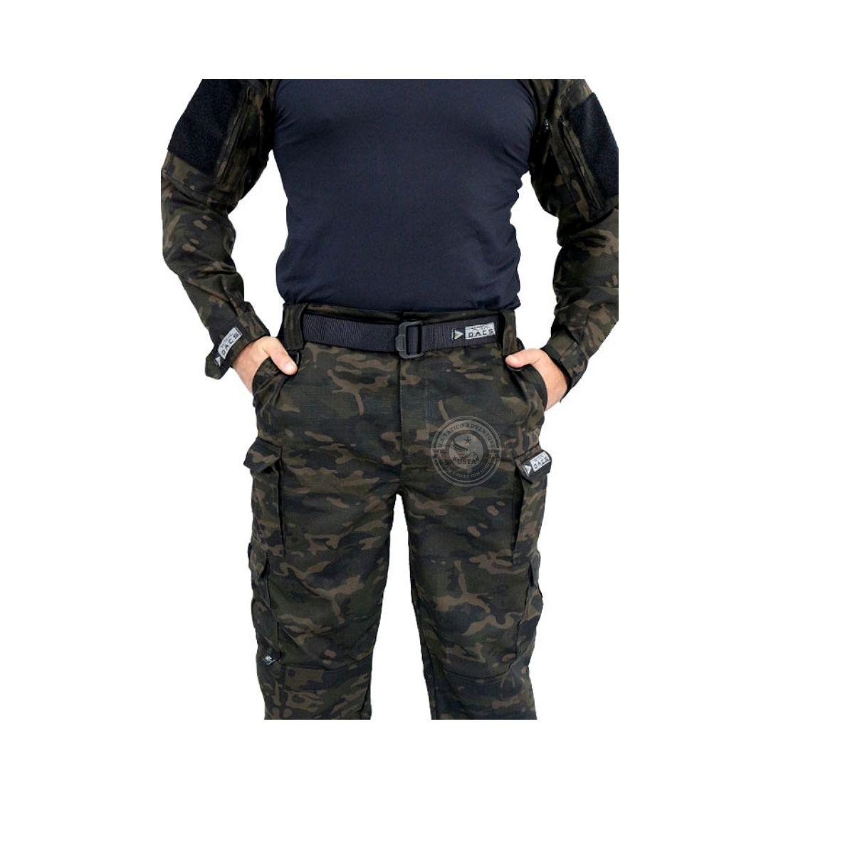Calça Tática HRT Militar Ripstop Multicam Black Tactical Dacs
