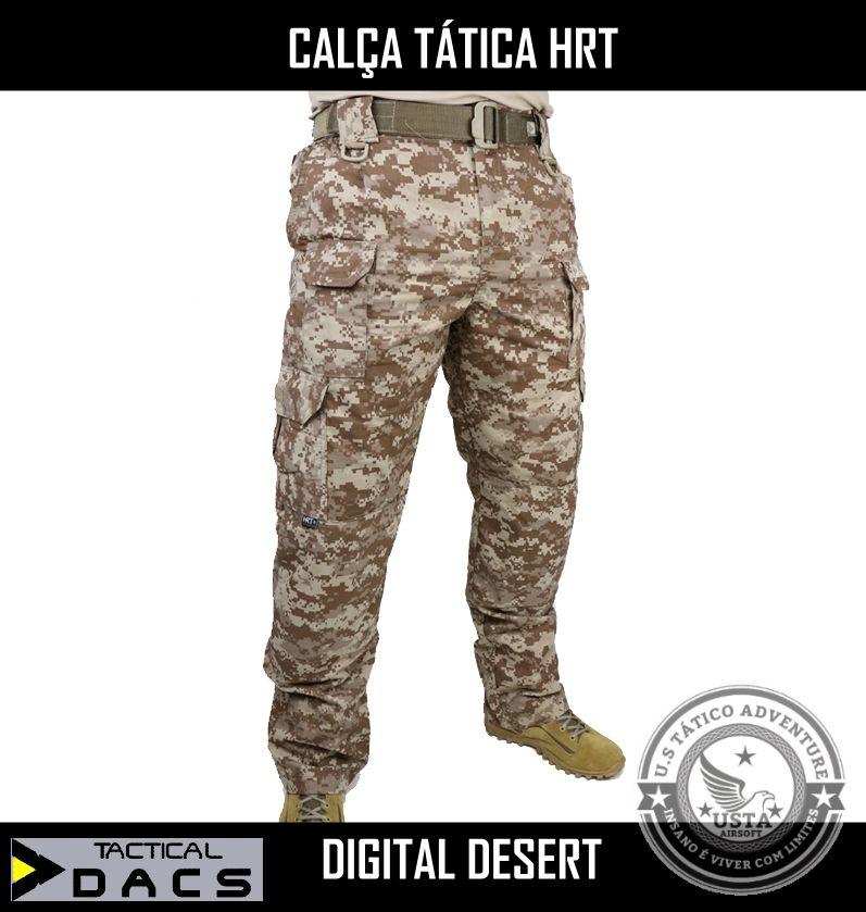 Calça Tática Militar HRT - DESERT DIGITAL ALGODÃO - TACTICAL DACS