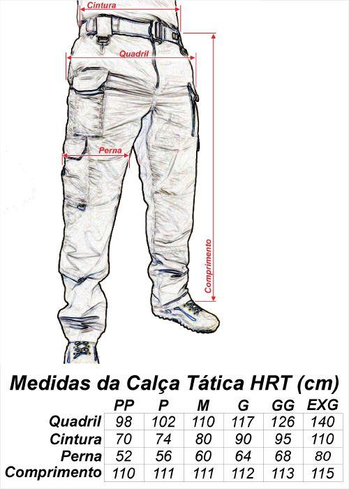 Calça Tática Militar Hrt - Ripstop Coyote - Tactical Dacs