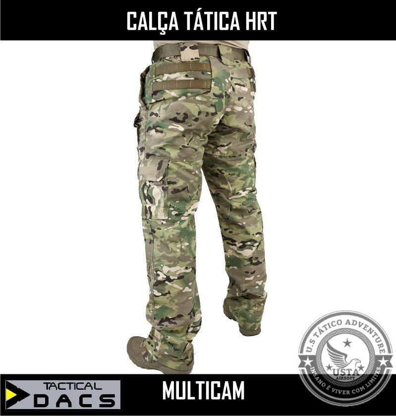 Calça Tática Militar Hrt - Ripstop Multicam Tactical Dacs