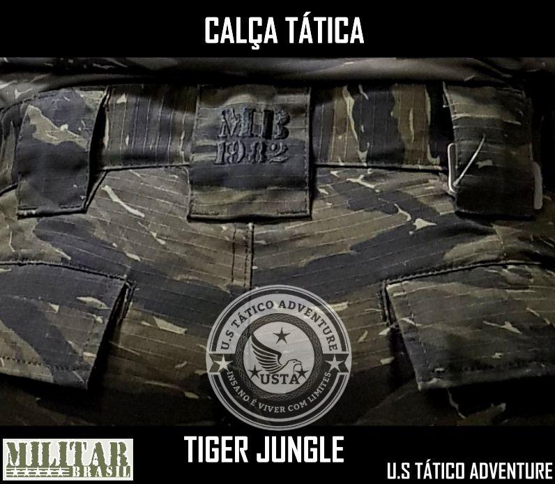Calça Tática Militar Mb 1982 Ripstop Camo Tiger Jungle