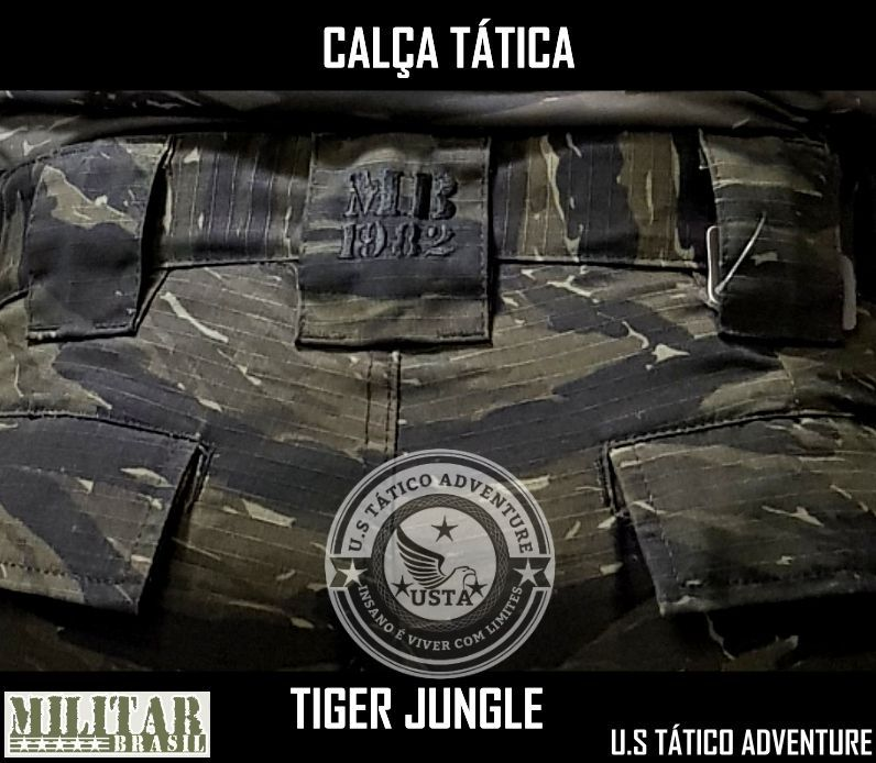Calça Tática Militar Mb 1982 Ripstop Camo Tiger Jungle