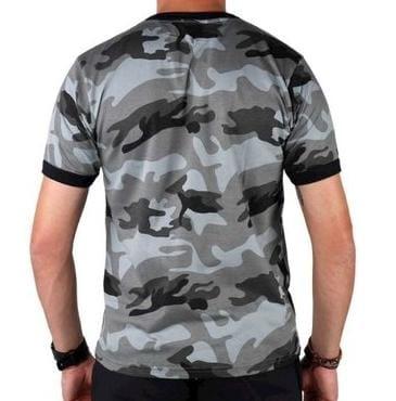 Camiseta Masculina Elite Comandos Camuflada Urbano Choque