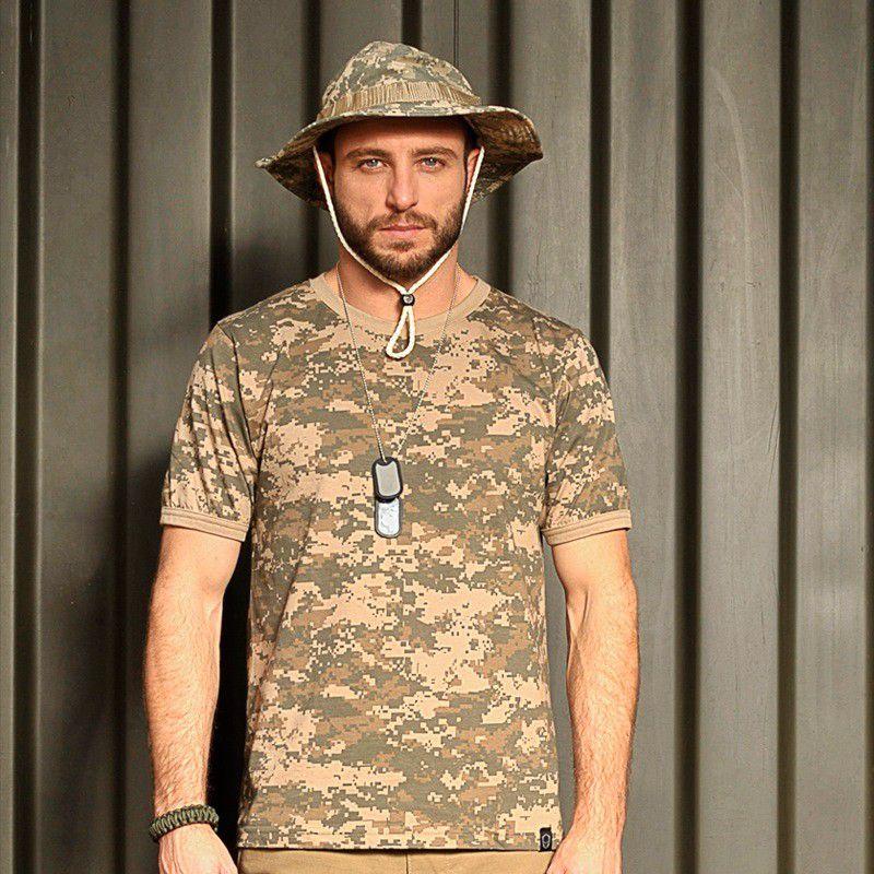 Camiseta Tática Camuflada ARMY COMBAT Bravo
