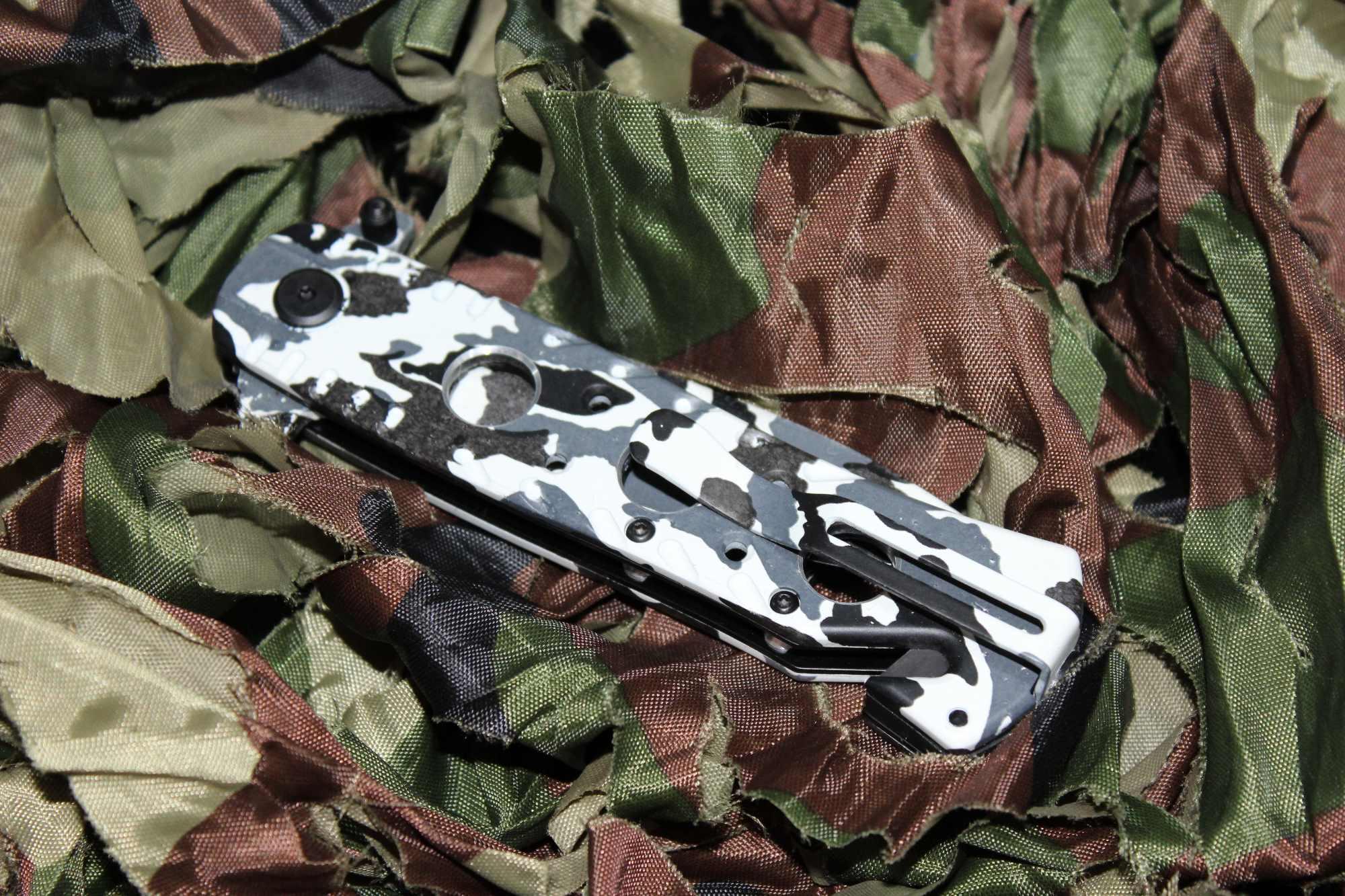 Canivete Camuflado Urbano Black US Marines