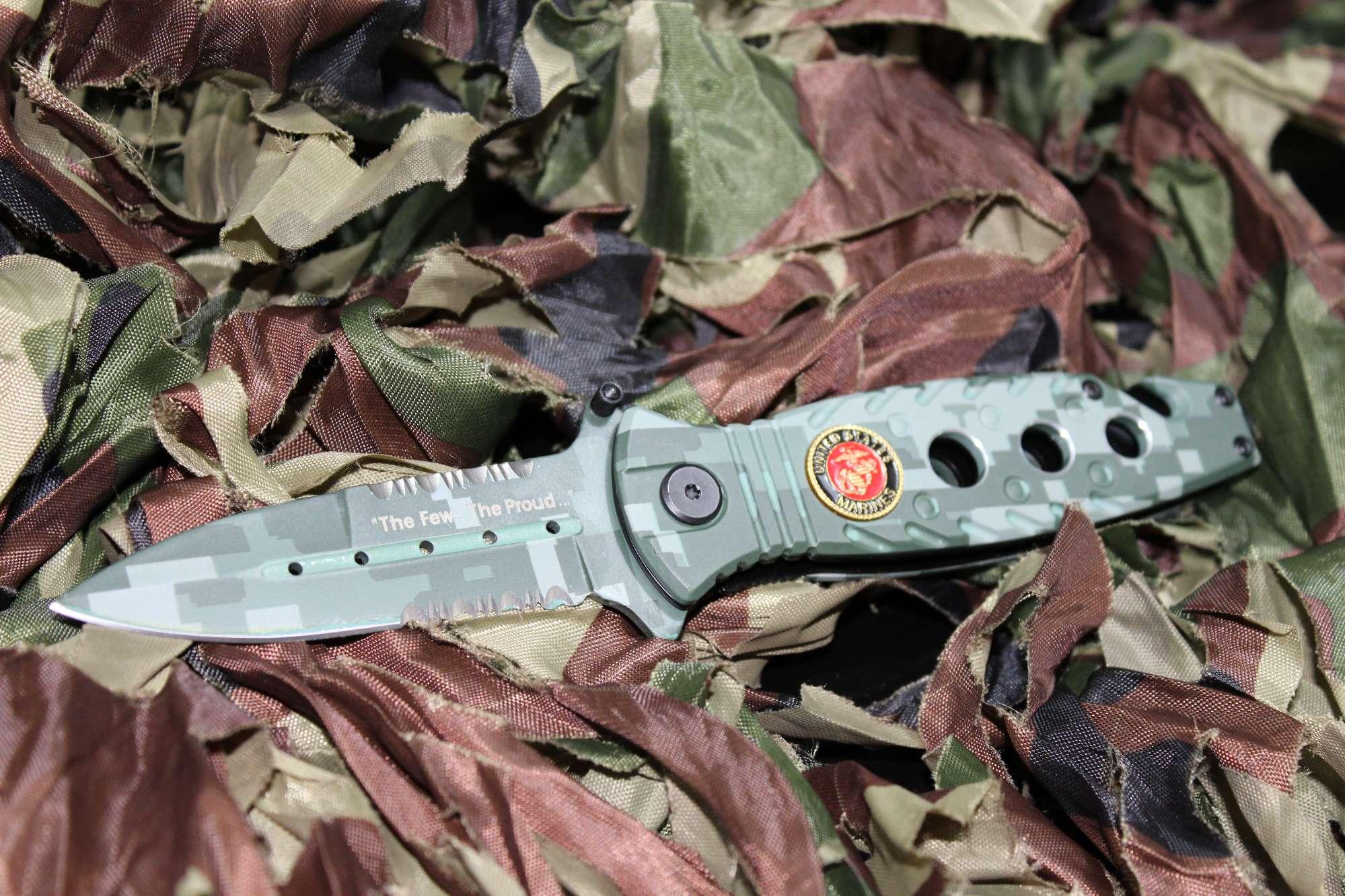 Canivete Marpat Digital Green US Marine