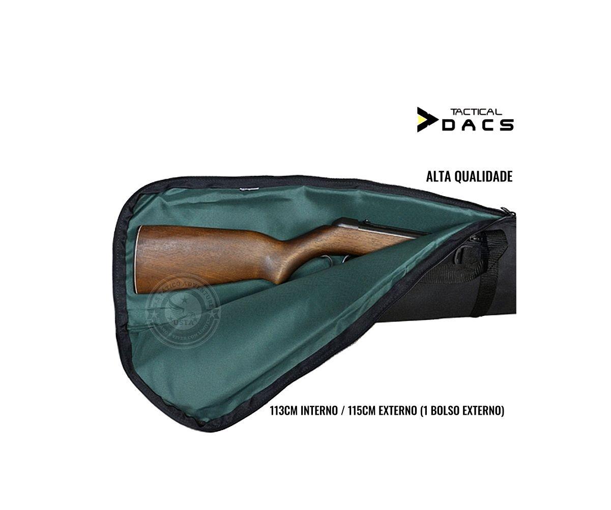 Capa Case Armas E Aeg Airsoft Média 115CM PRETO- Tactical Dacs