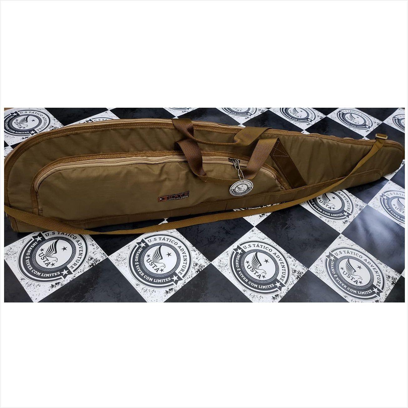 Capa Case P/ Arma E Aeg Airsoft Luxo 116 Cordura COYOTE Dacs
