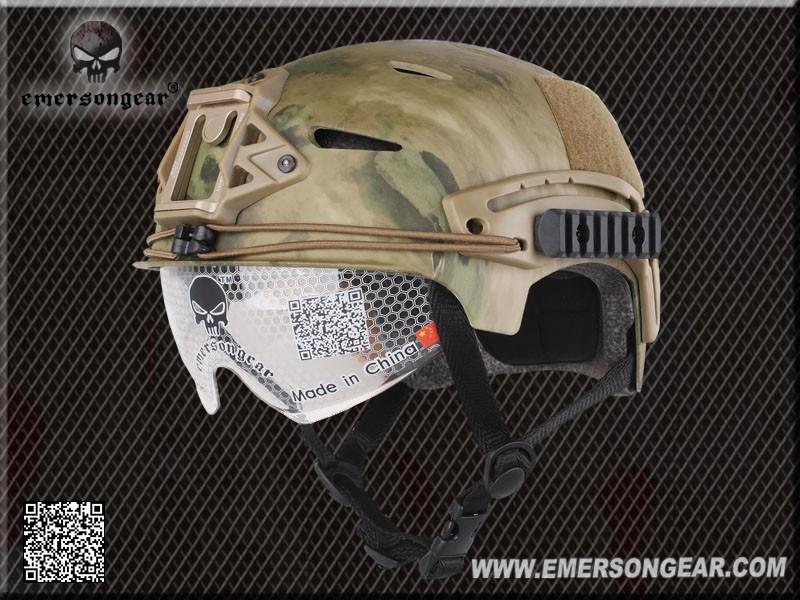 CAPACETE EMERSON EXF BUMP EM8981 CAMUFLADO ATACS FG VISEIRA