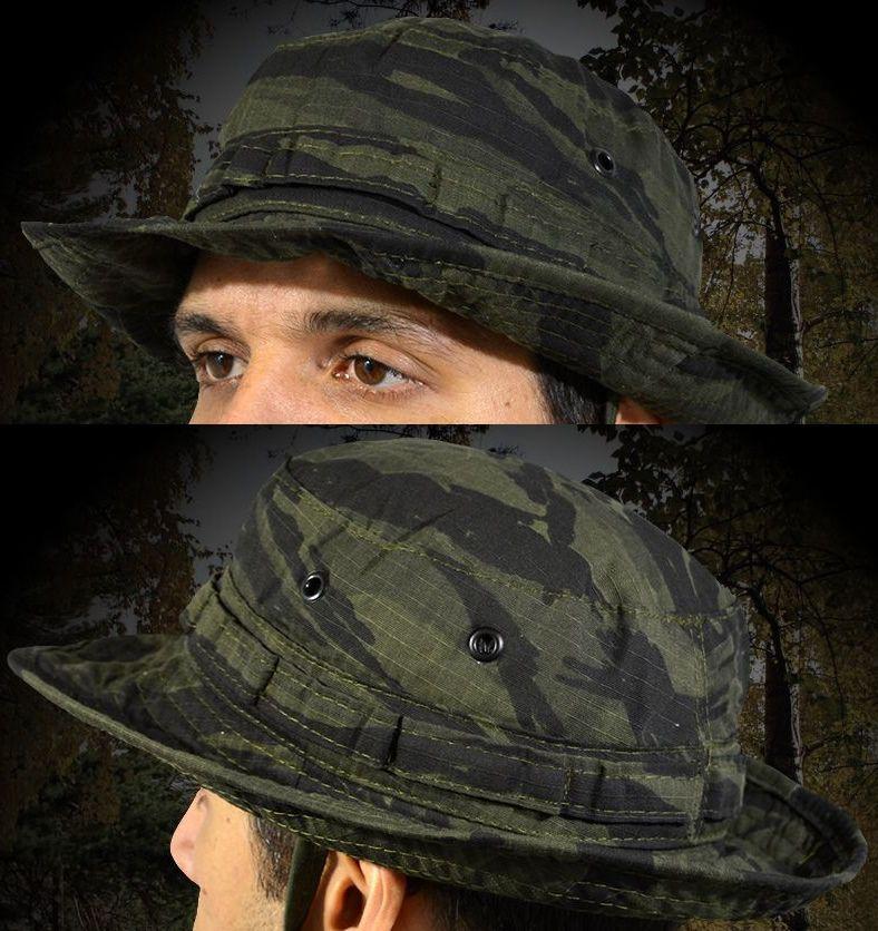 Chapéu Boonie Hat Camuflado Tiger Jungle Militar