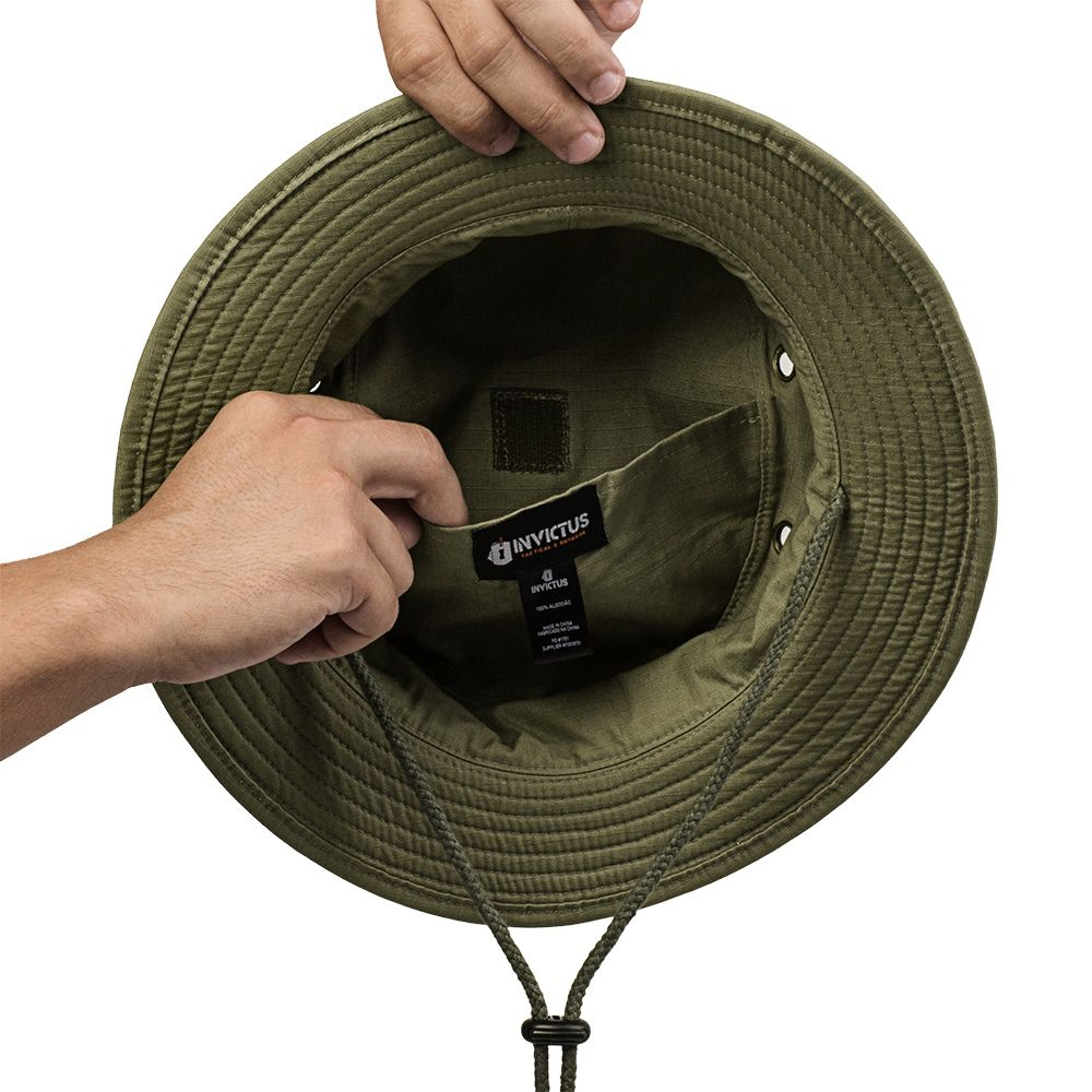 Chapéu Boonie Hat Invictus Policial Militar Airsoft Camping CAQUI