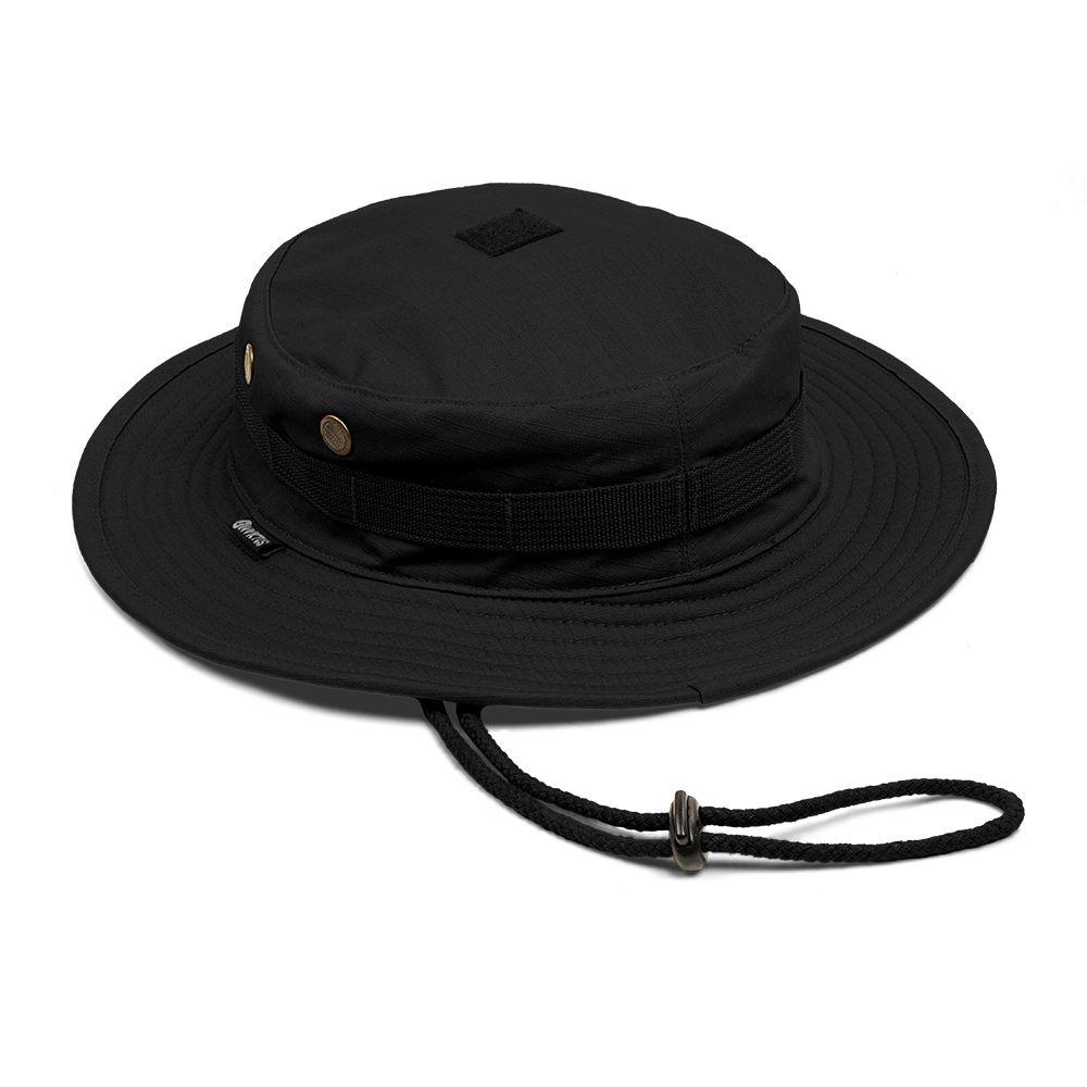 Chapéu Boonie Hat Invictus Policial Militar Airsoft Camping PRETO