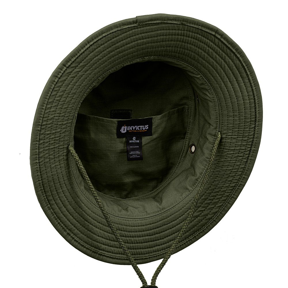 Chapéu Boonie Hat Invictus Policial Militar Airsoft Camping VERDE OLIVA